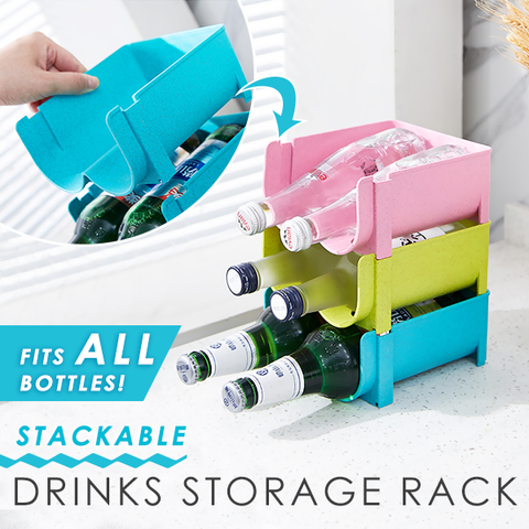 Trendy Stackable Drinks Storage Rack