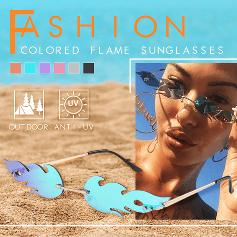 Fashion Colored Flame Sunglasses