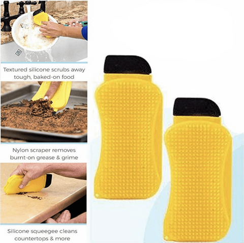 3-in-1 Ultimate Silicone Sponge - Junglabs