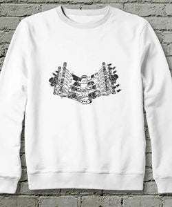 Sweatshirt | Piston V8 | Beyaz