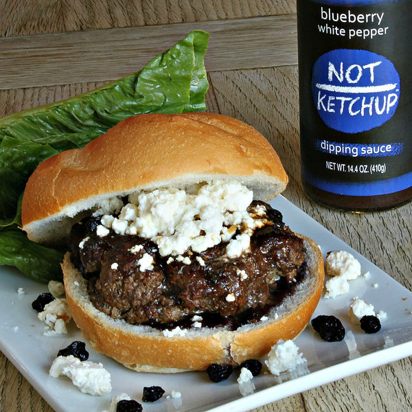 Blueberry Not Ketchup Bison Burger Recipe