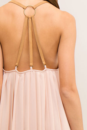 BACKLESS LEATHER STRAP COCKTAIL DRESS - Gypsie Souls