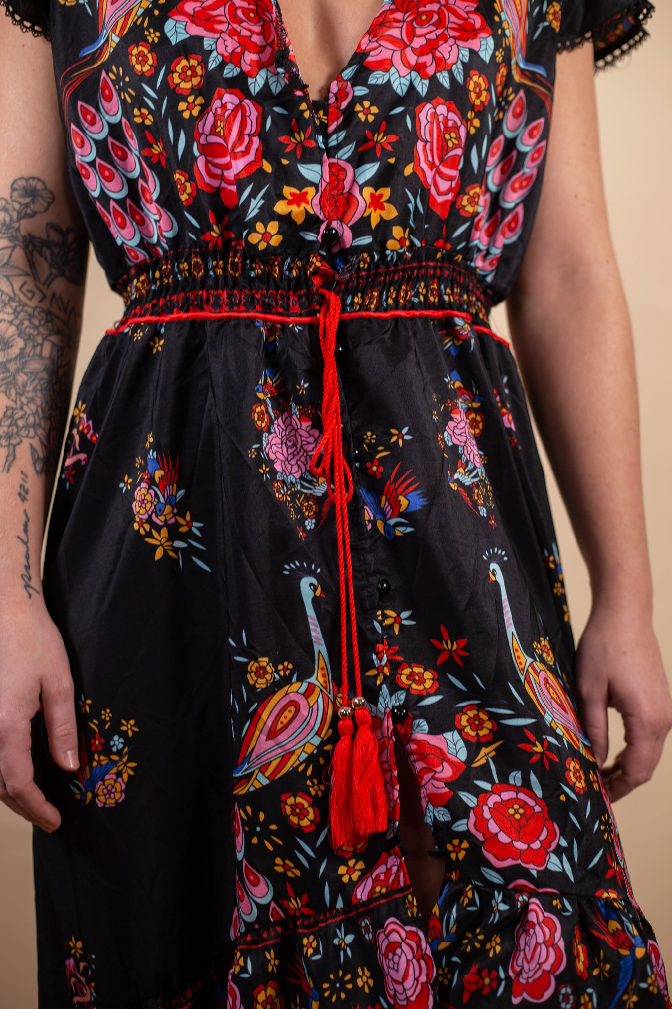 Black and Red Flare Dress - Gypsie Souls