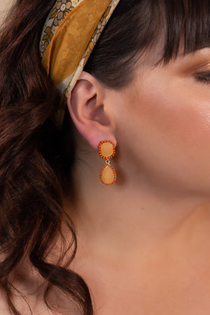 Orange Crush Earrings - Gypsie Souls