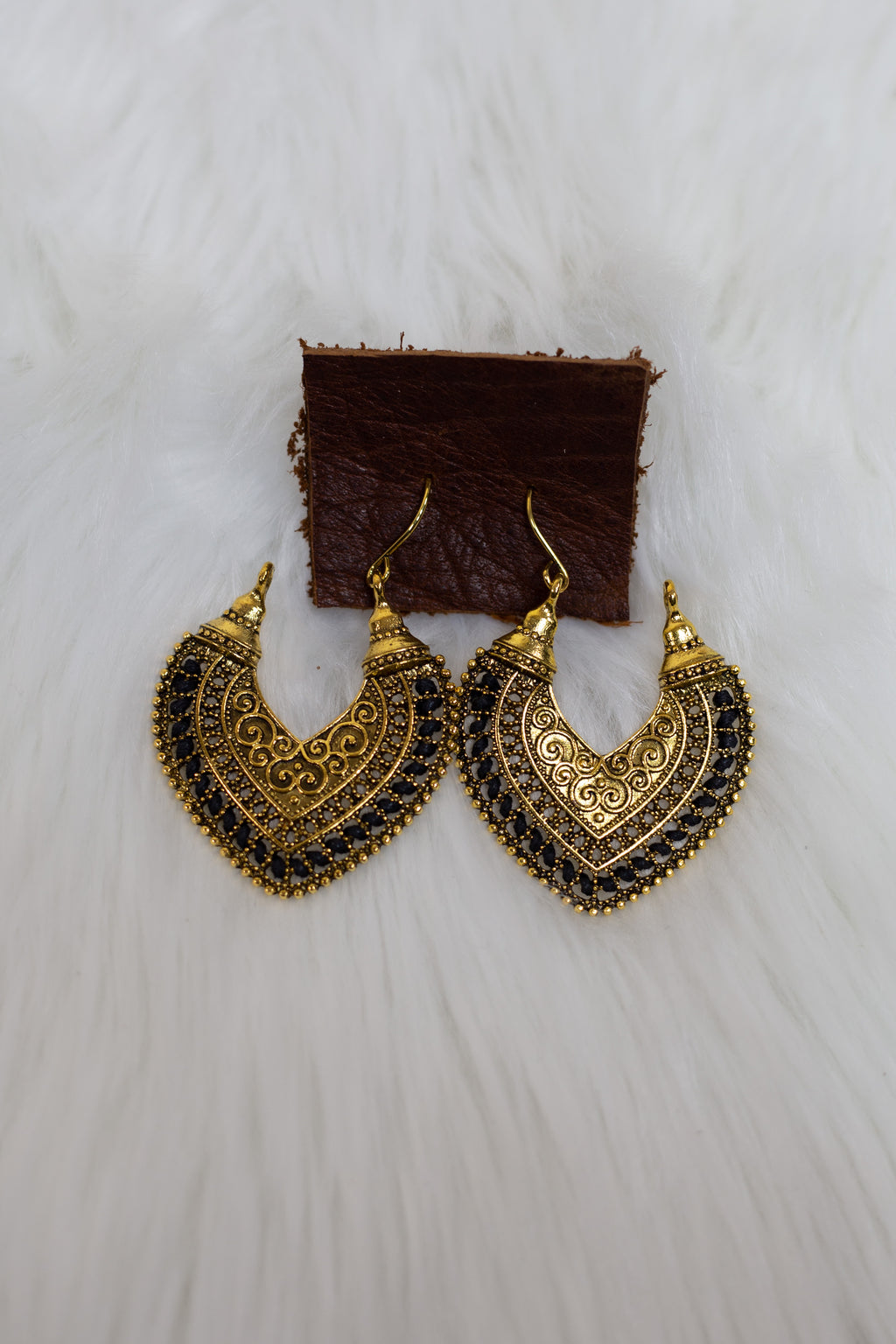 Gold & Black Thread Gypsie Earring - Gypsie Souls