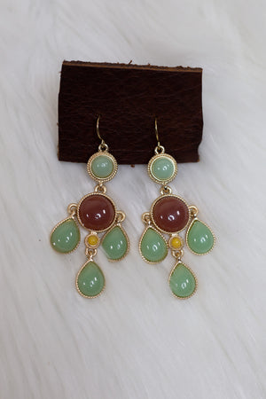 Sage & Brown Dangle Earrings - Gypsie Souls