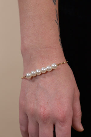 Pearl Necklace and Bracelet Set - Gypsie Souls