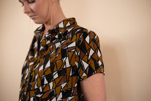 Vintage 80's Abstract Top - Gypsie Souls
