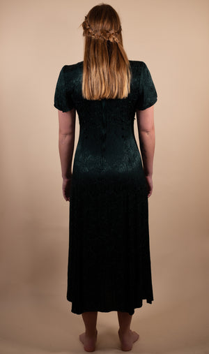 Vintage 90's Benson & Smith Dark Green Dress - Gypsie Souls
