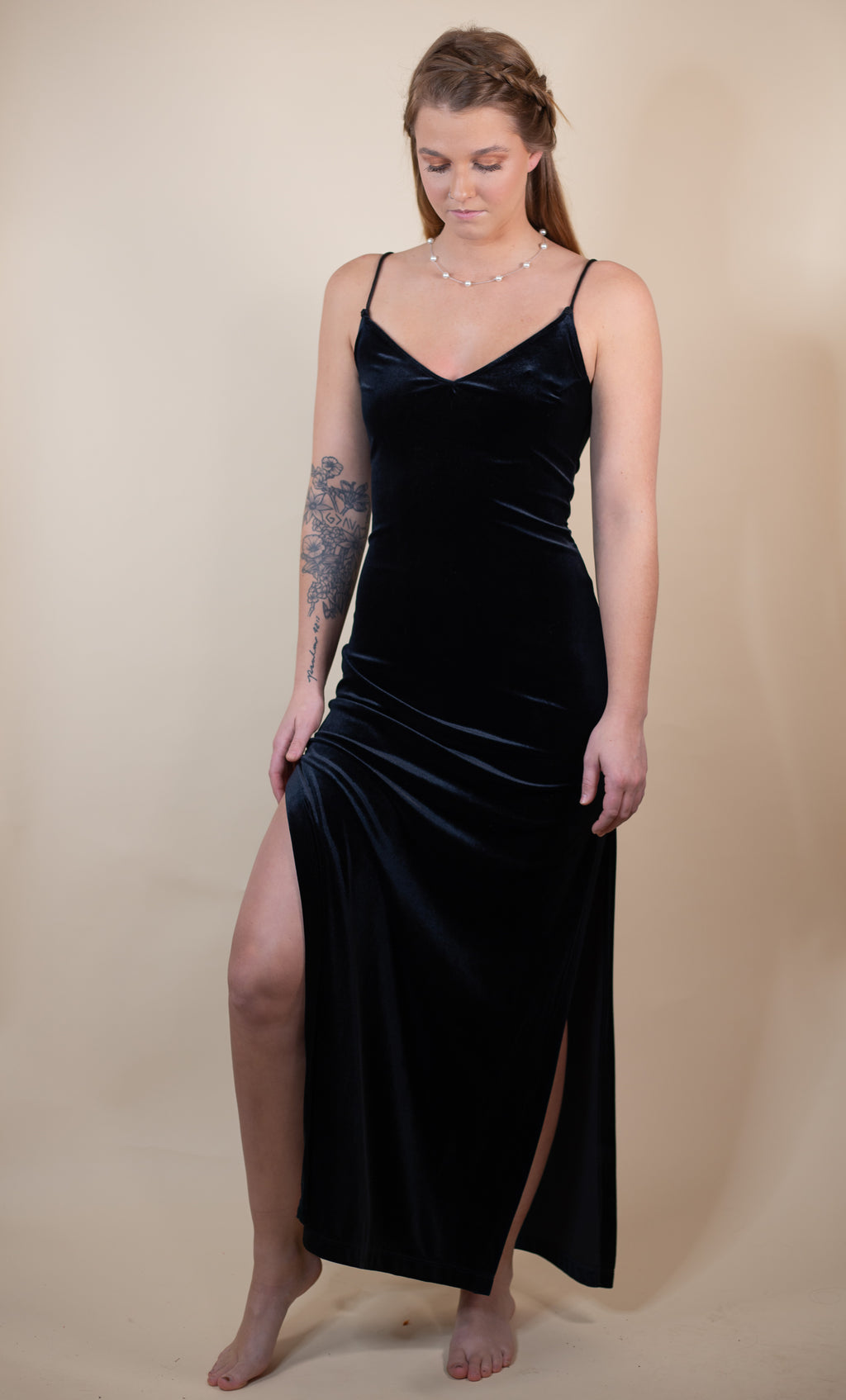 Vintage 90's Rampage Black Velvet Maxi Dress - Gypsie Souls