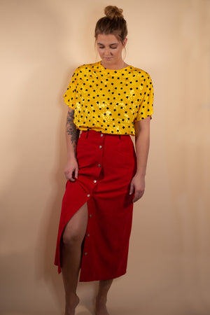 Vintage Great Northwest Red Button Up Maxi Skirt - Gypsie Souls