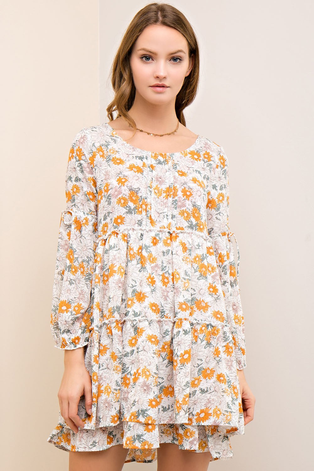 LONG SLEEVE FLORAL DRESS - Gypsie Souls