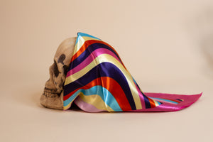 Pink Multi Color Silk Scarf - Gypsie Souls