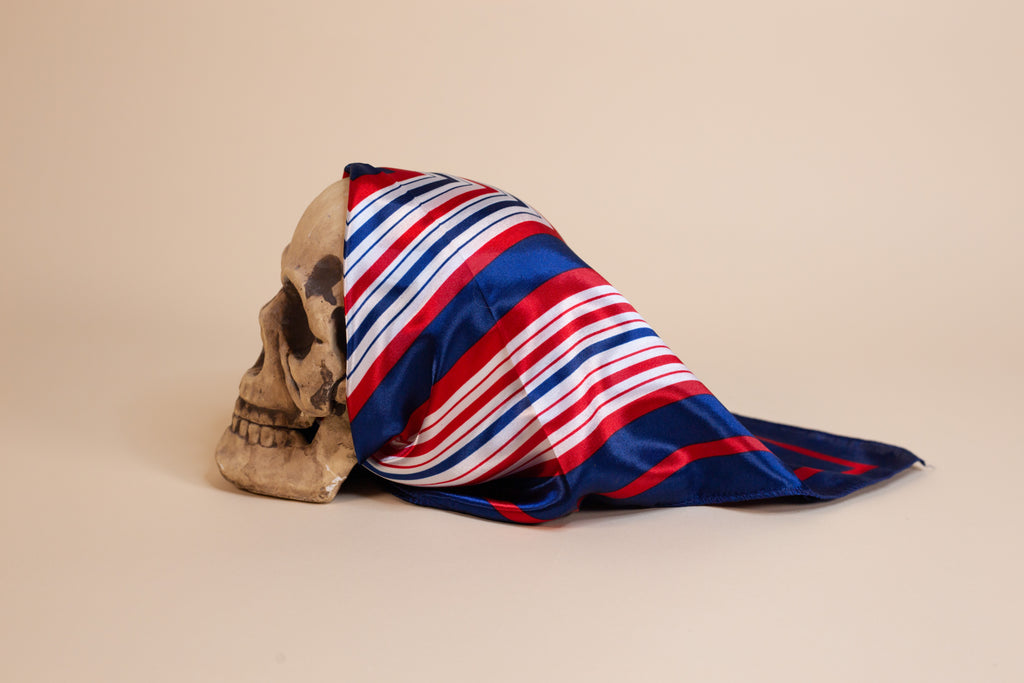 Red, White & Blue Silk Scarf - Gypsie Souls