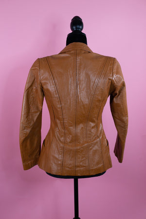 Vintage Brown Casablanca Leather Jacket - Gypsie Souls