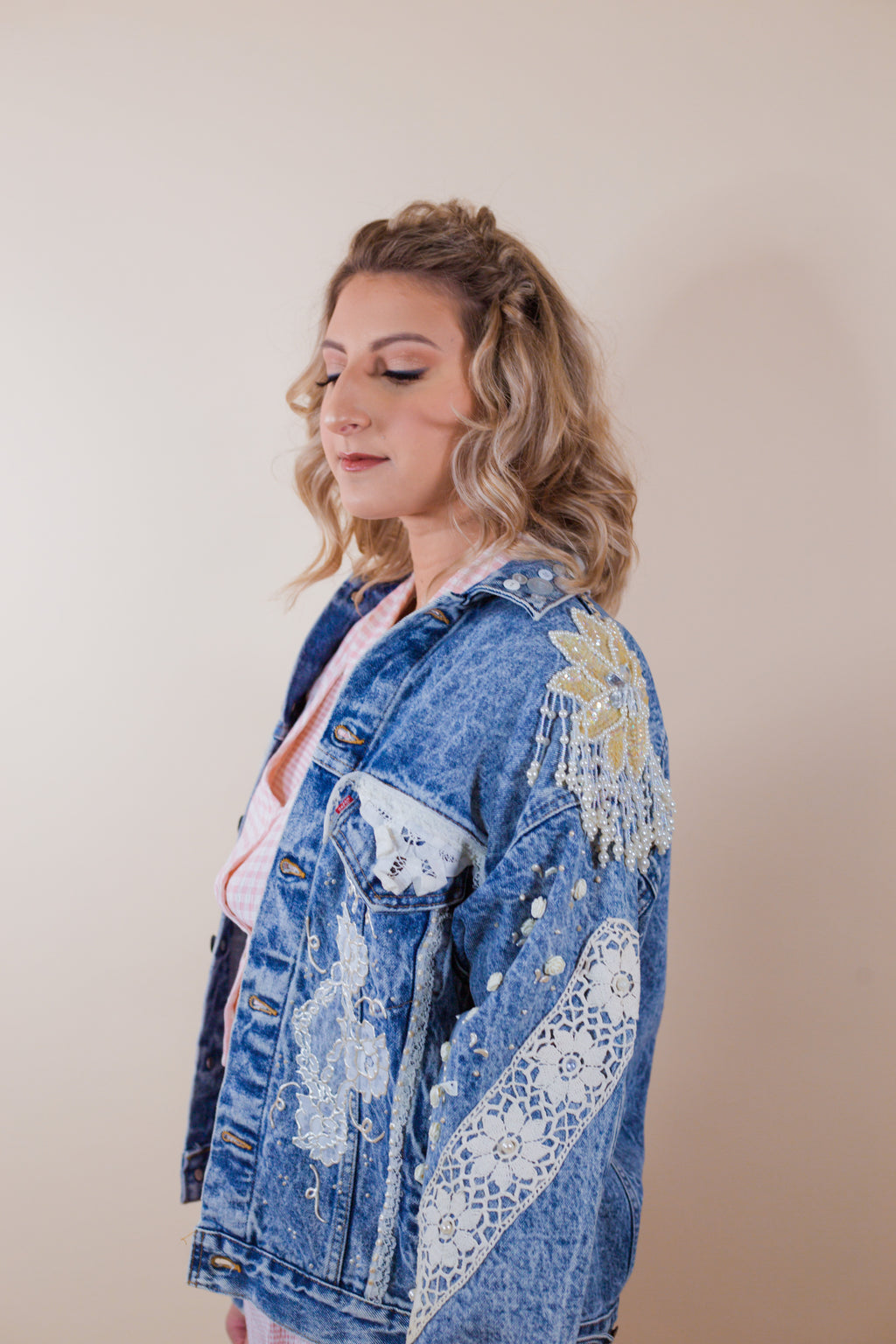 Vintage Acid Wash Levi's Denim Lace Jacket - Gypsie Souls