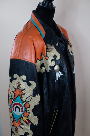 Vintage Men's Eagle Patriotic Leather Jacket - Gypsie Souls
