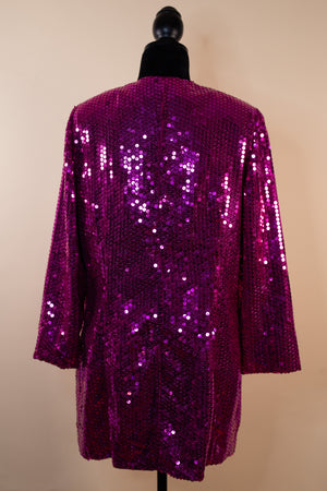 Vintage 80's Hot Pink Sequin Jacket - Gypsie Souls