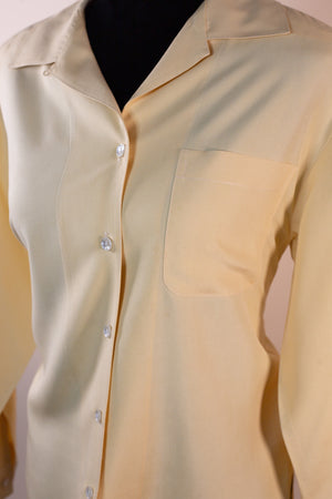 Vintage Charter Club Yellow Blouse - Gypsie Souls