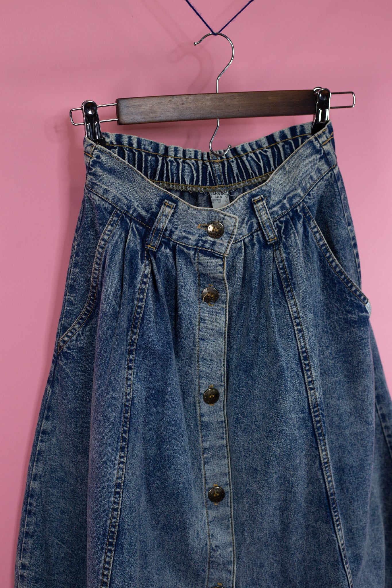 Vintage Cherokee High Waisted Denim Skirt - Gypsie Souls