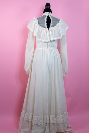 Vintage 1970's Gunne Sax Wedding Prairie Long sleeve Dress - Gypsie Souls