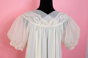 Vintage Lorraine Ivory Sheer Lace Nightgown - Gypsie Souls