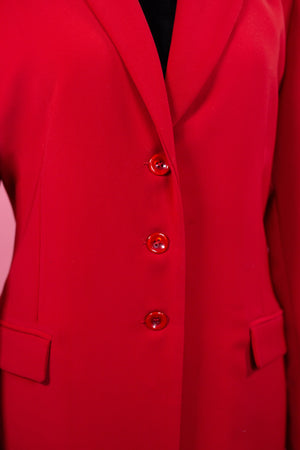 Vintage Savy New York Red Trench Coat - Gypsie Souls