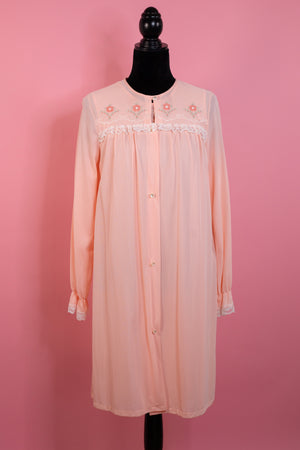 Vintage Union Made Light Peach Nightgown and Robe - Gypsie Souls