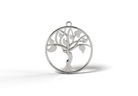 Muse by Natalie Krill signature necklace featuring woman's form in a tree
