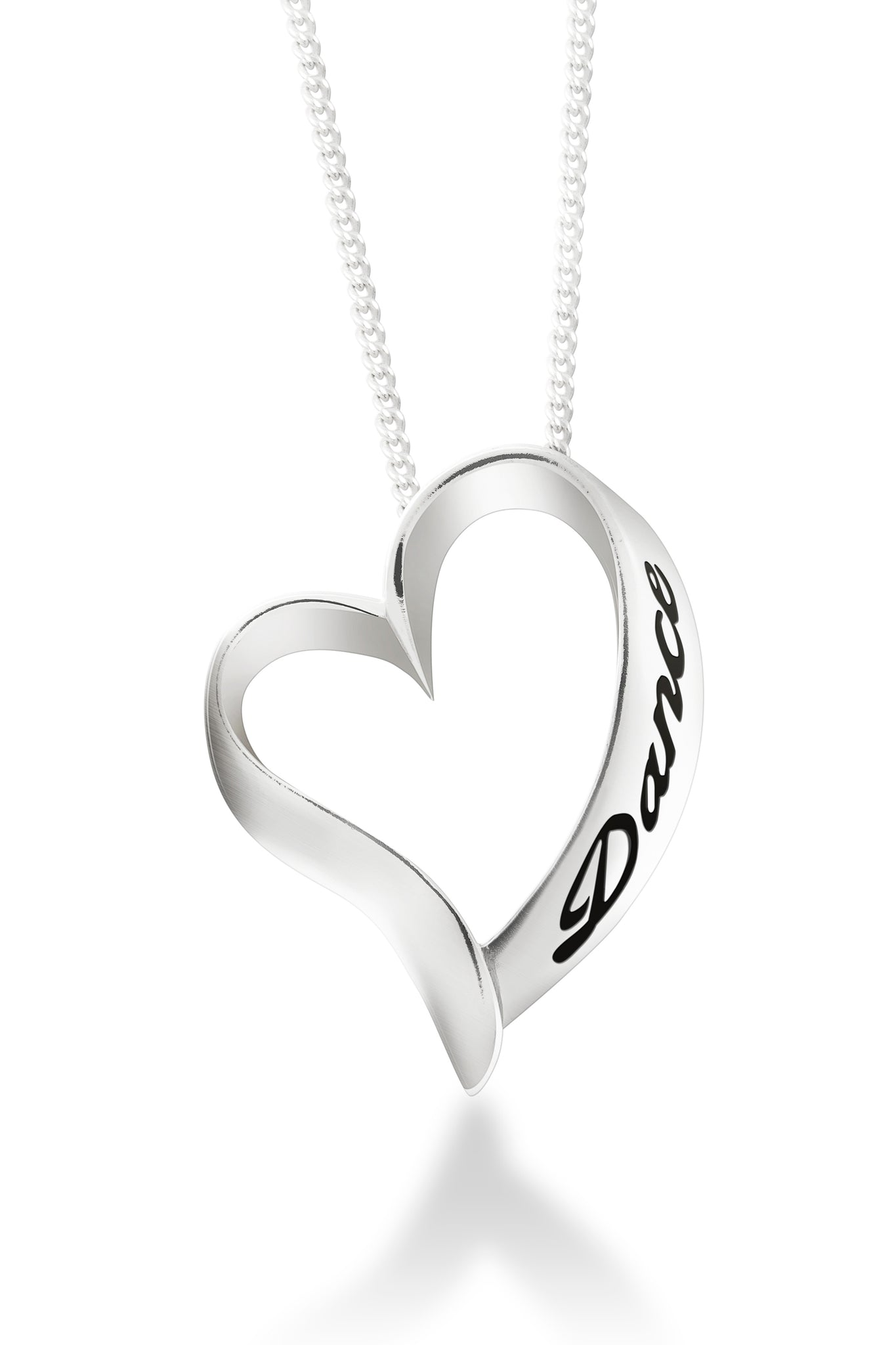 Dancer Necklace Dance Lover Gift on Stainless Steel Silver Chain Born to Dance Stainless Steel Pendant Dance Necklace