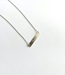 Dancer Sterling Silver Bar Necklace