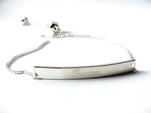 Dancer Sterling Silver Adjustable Bracelet