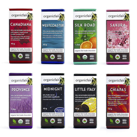 organicfair chocolate bar 8 pack