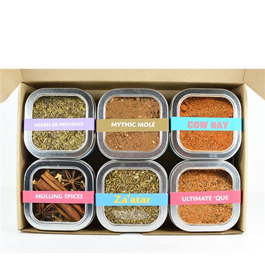 set of six spice rubs