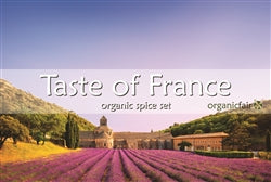 organicfair taste of france spice set label