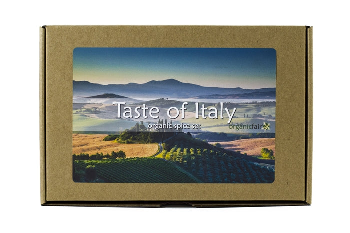 organicfair taste of italy spice set box
