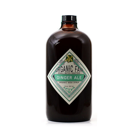 organicfair ginger ale soda syrup big bottle