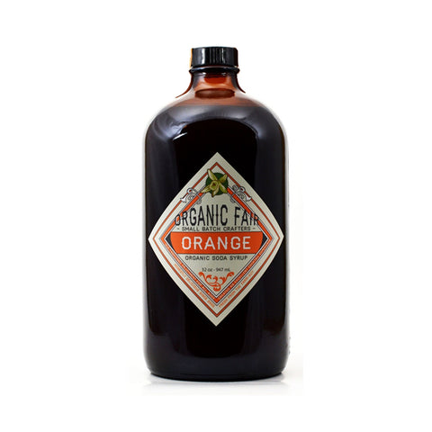 organicfair orange soda syrup big bottle