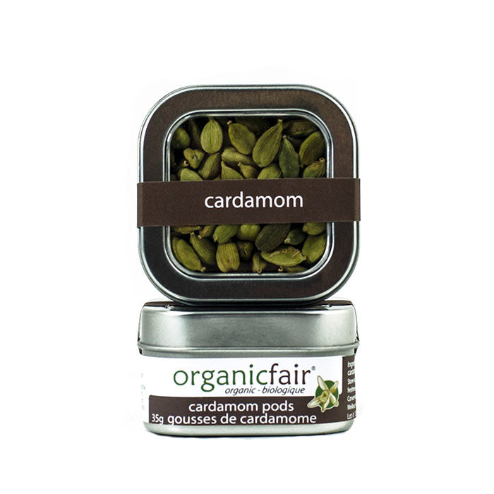 organicfair cardamom pods tin