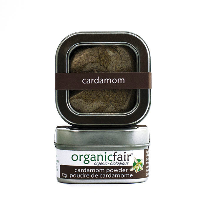 organicfair cardamom powder tin