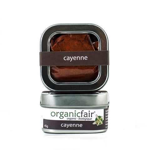 organicfair cayenne powder tin
