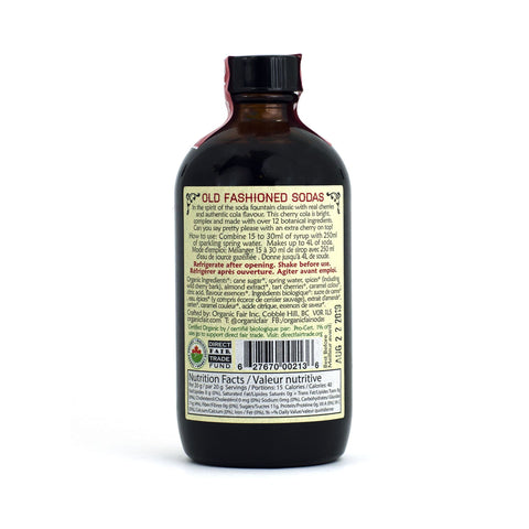organicfair cherry cola soda syrup back