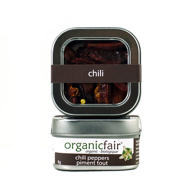 organicfair whole chili peppers tin