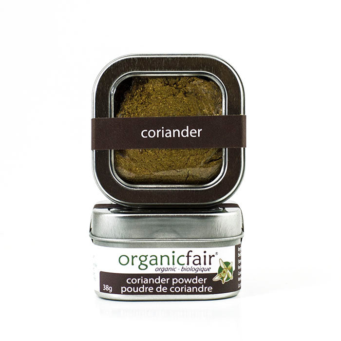 organicfair coriander powder tin