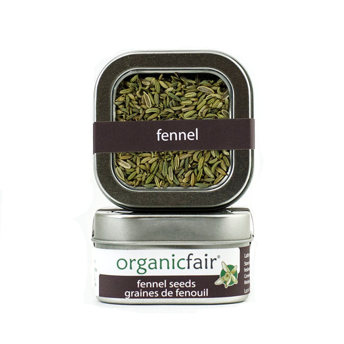 organicfair fennel seeds tin