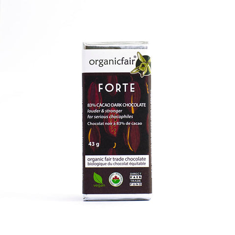 organicfair forte dark chocolate bar