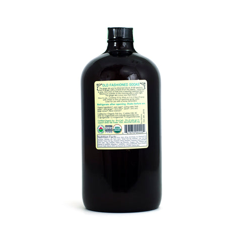 organicfair ginger ale soda syrup back