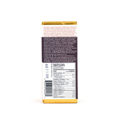 organicfair goldenmilk chocolate bar back