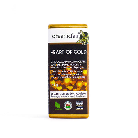 organicfair heart of gold chocolate bar