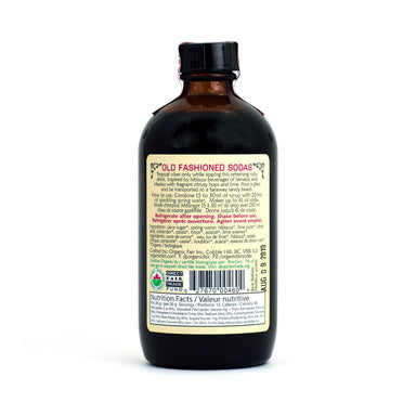 organicfair hibiscus lime soda syrup back label
